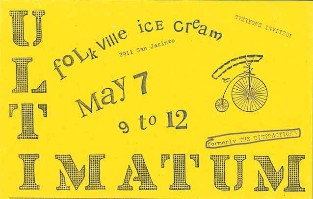 ultimatum gig flyer